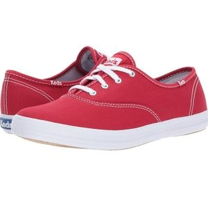 ⚪Keds Women's Champion Canvas Sneaker Red 7.5
